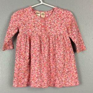 Oshkosh Girls Pink Floral Cotton Dress Sz 12M